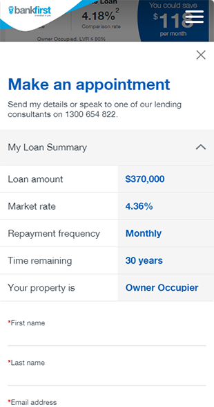 Bank First – Refinancing